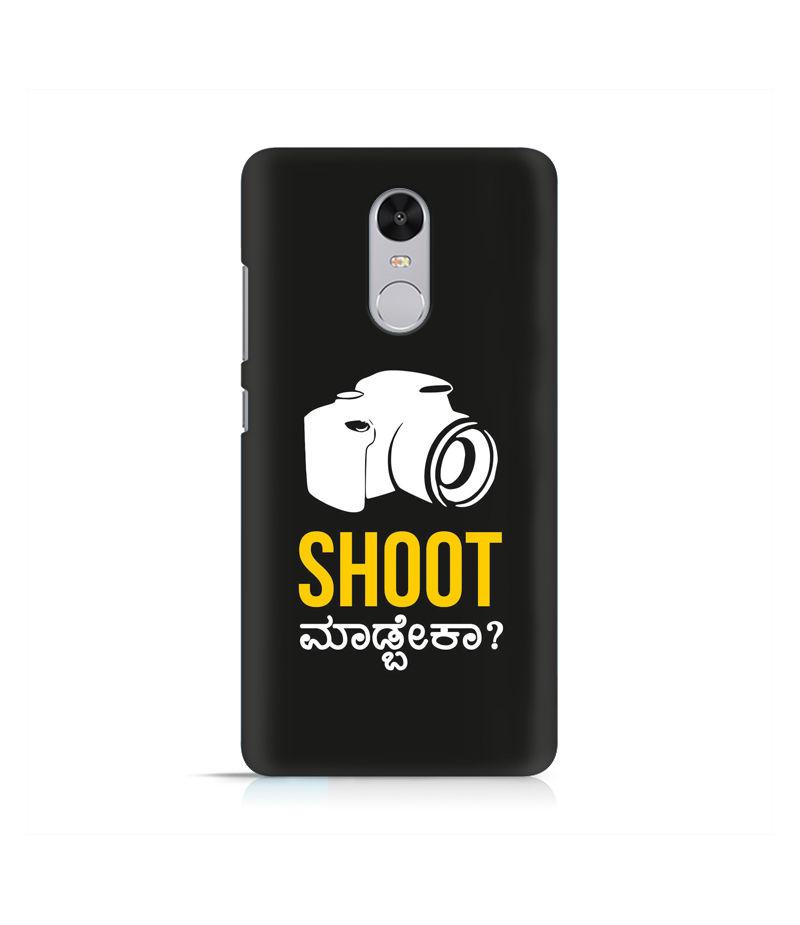 Shoot Madbeka Premium Printed Case For Xiaomi Redmi Note 4