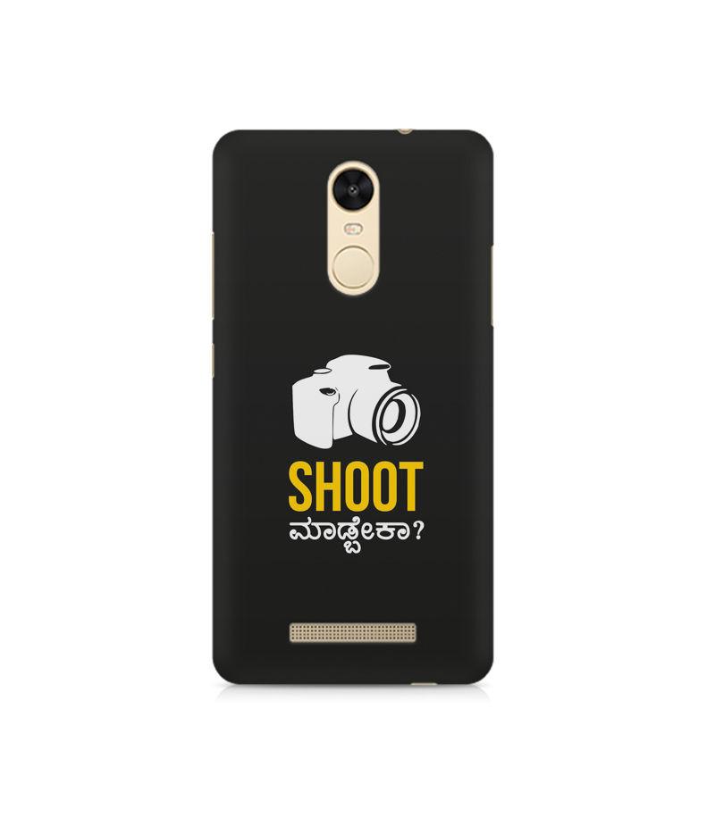 Shoot Madbeka Premium Printed Case For Xiaomi Redmi Note 3