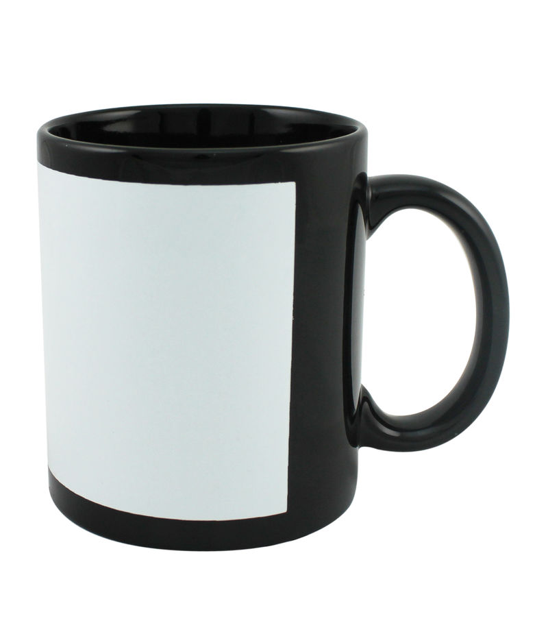 Customized Photo Mugs- Black