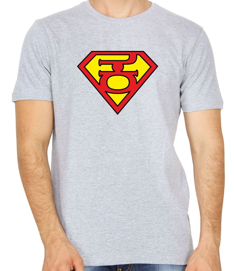 Super Kannadiga Grey Colour Round Neck Tshirt
