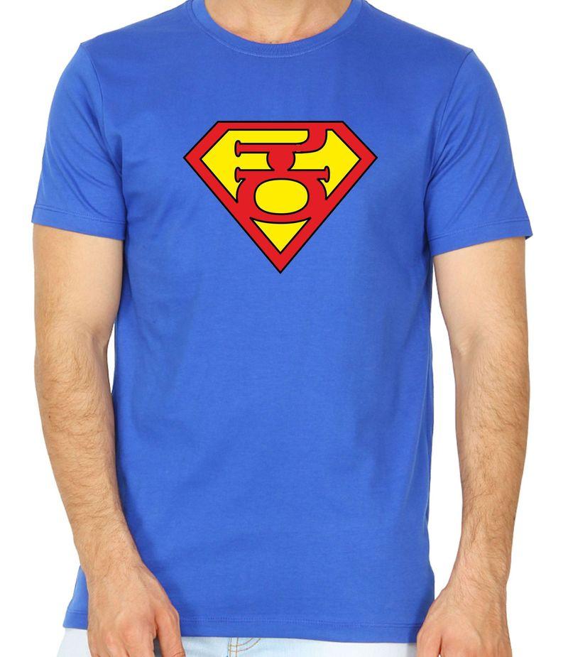 Super Kannadiga Royal Blue Colour Round Neck Tshirt