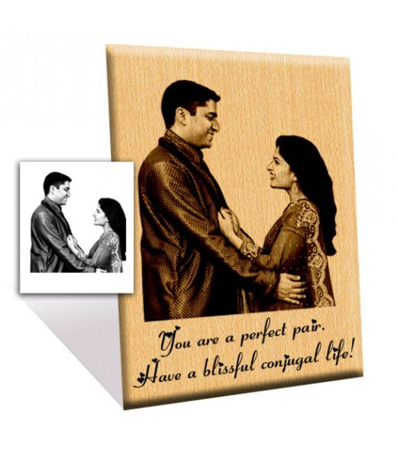Photo engraved Wooden Plaque 10x12-Large