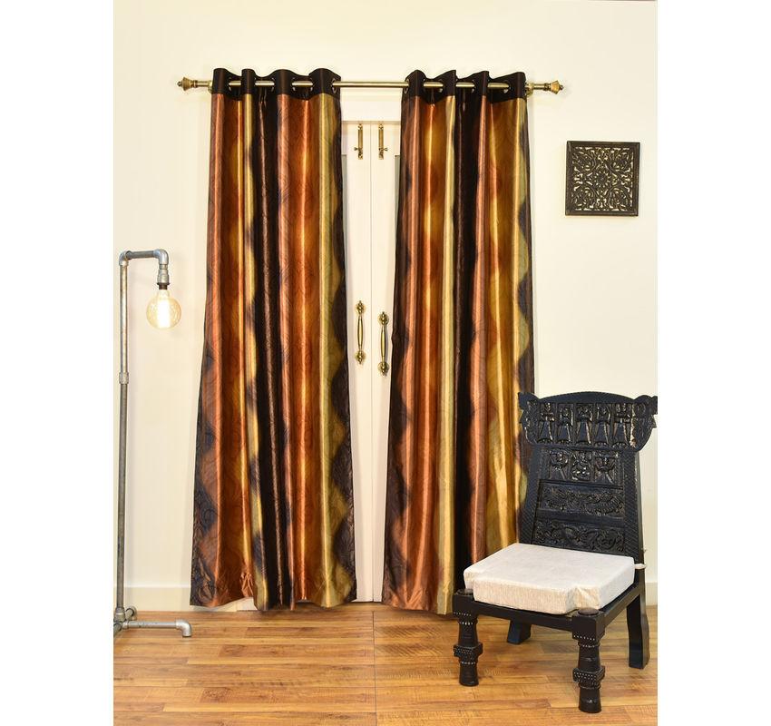 Ariana Royal Brown Extra Large Door Curtain | 8907274012734