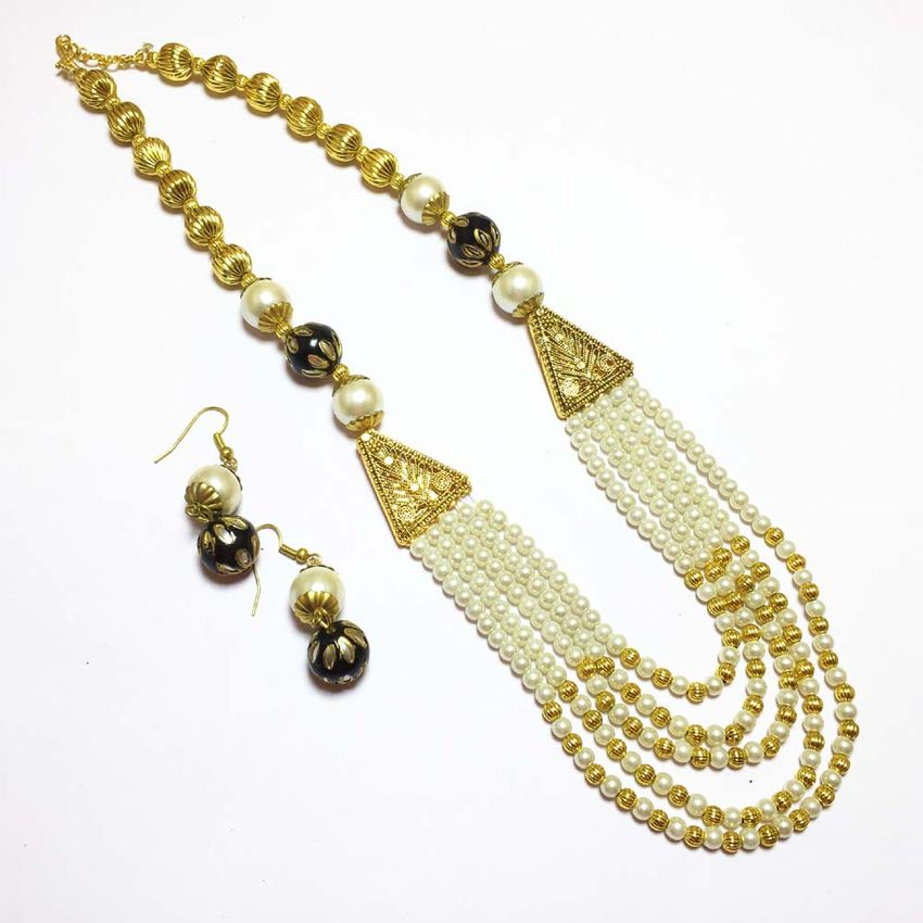 online gold plated buy violet pearls designer chain beads red finish