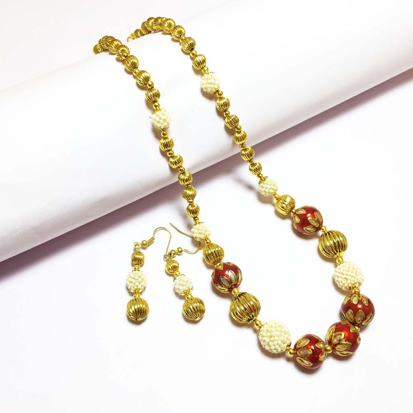 indian product jewellery wedding detail beads handmade coral designs necklace red african