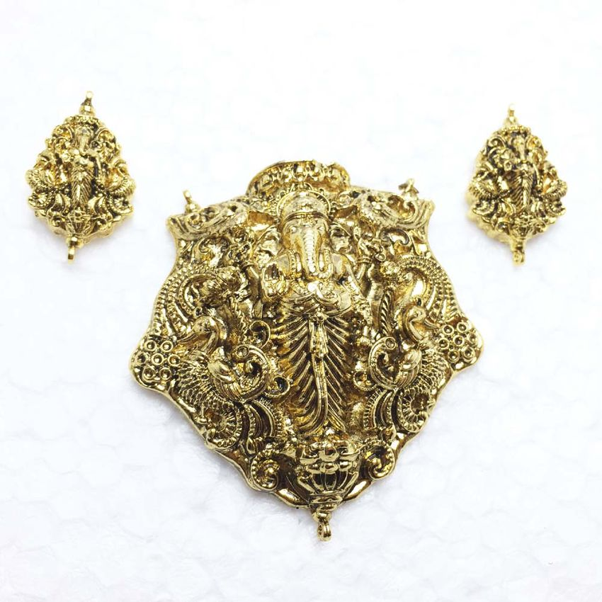 Temple jewellery pendant 1 set aloadofball Choice Image