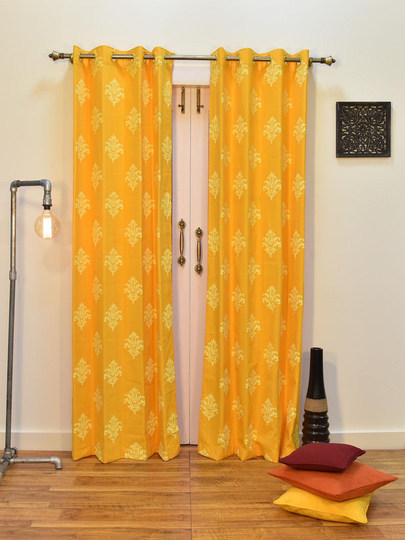 Zoom  sc 1 st  Ariana Deziner Kreations Pvt. Ltd. & Ariana Berry Damask Yellow Door Curtain | 8907274013717