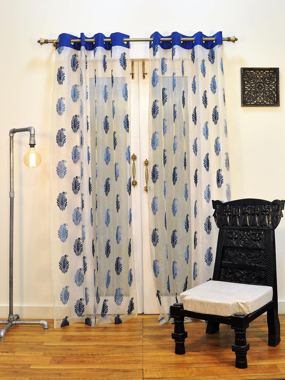 Zoom  sc 1 st  Ariana Deziner Kreations Pvt. Ltd. & Ariana Sheers Exotic Blue Door Curtain | 8907274002148
