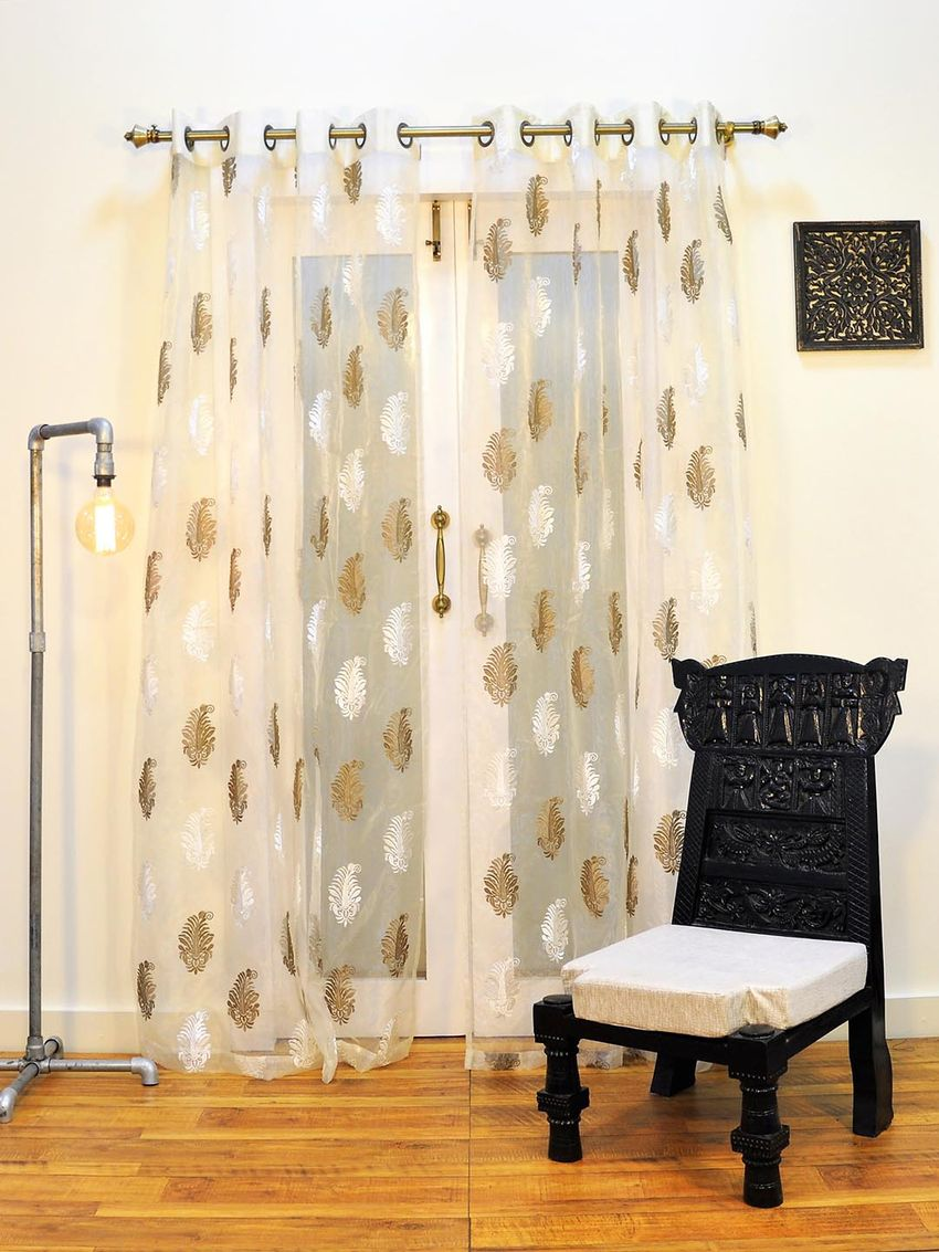 Zoom  sc 1 st  Ariana Deziner Kreations Pvt. Ltd. & Ariana Sheers Exotic Beige Door Curtain | 8907274002162