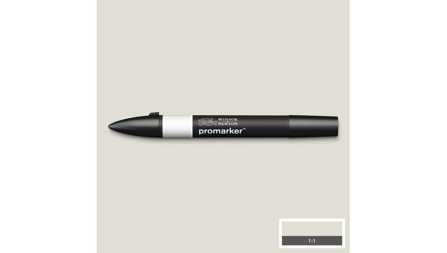 Winsor & Newton ProMarker - Twin Tip; Broad+Chisel - Alcohol Based - Cool Grey 1