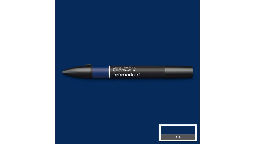 Winsor & Newton ProMarker - Twin Tip; Broad+Chisel - Alcohol Based - Indigo Blue