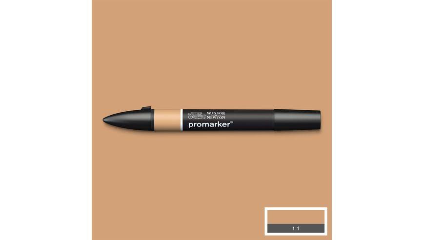 Winsor & Newton ProMarker - Twin Tip; Broad+Chisel - Alcohol Based - Cinnamon