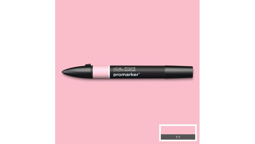 Winsor & Newton ProMarker - Twin Tip; Broad+Chisel - Alcohol Based - Baby Pink