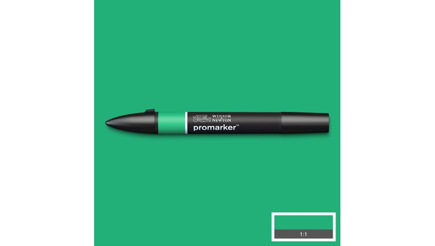 Winsor & Newton ProMarker - Twin Tip; Broad+Chisel - Alcohol Based - Emerald