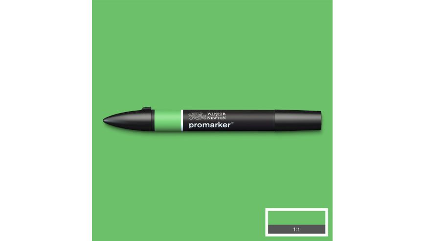 Winsor & Newton ProMarker - Twin Tip; Broad+Chisel - Alcohol Based - Grass