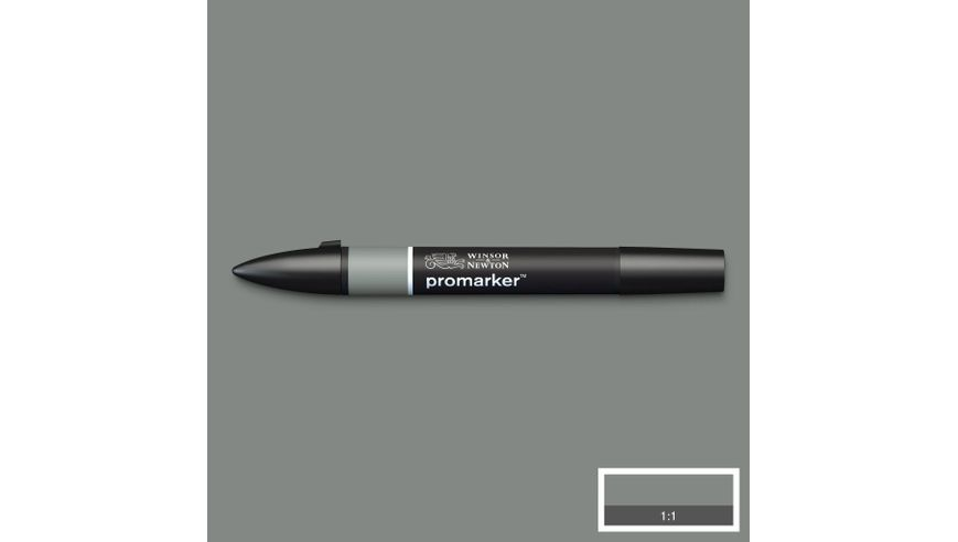 Winsor & Newton ProMarker - Twin Tip; Broad+Chisel - Alcohol Based - Ice Grey 5