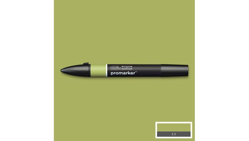 Winsor & Newton ProMarker - Twin Tip; Broad+Chisel - Alcohol Based - Marsh Green