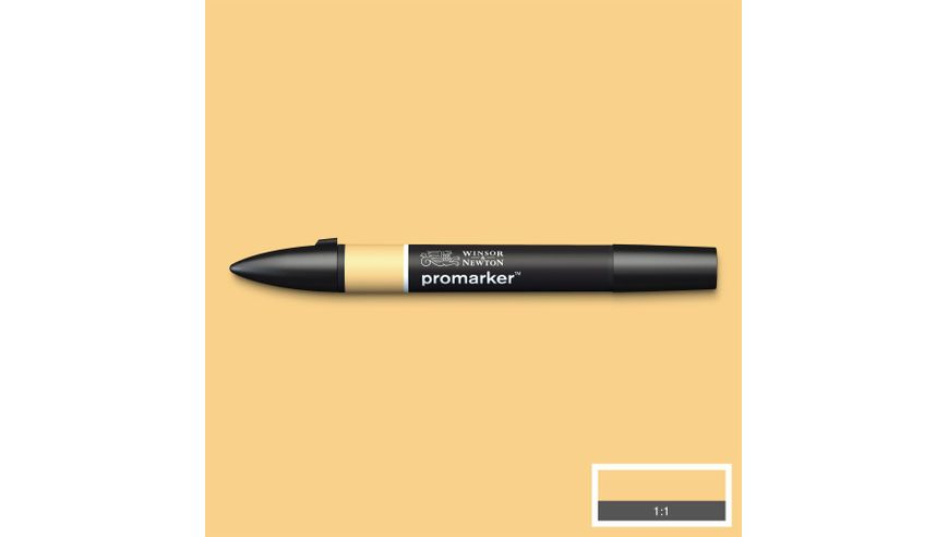 Winsor & Newton ProMarker - Twin Tip; Broad+Chisel - Alcohol Based - Pastel Yellow