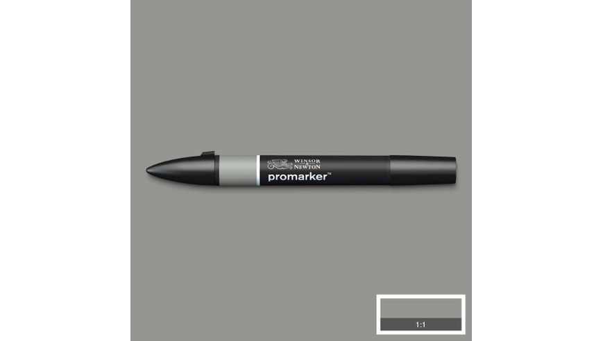 Winsor & Newton ProMarker - Twin Tip; Broad+Chisel - Alcohol Based - Ice Grey 4