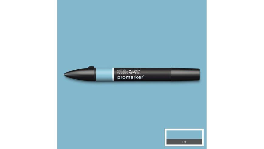Winsor & Newton ProMarker - Twin Tip; Broad+Chisel - Alcohol Based - Denim Blue