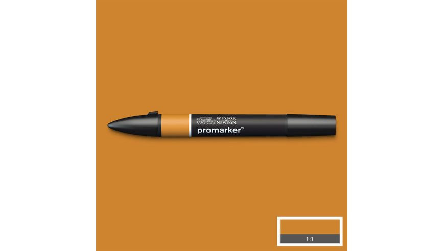 Winsor & Newton ProMarker - Twin Tip; Broad+Chisel - Alcohol Based - Raw Sienna