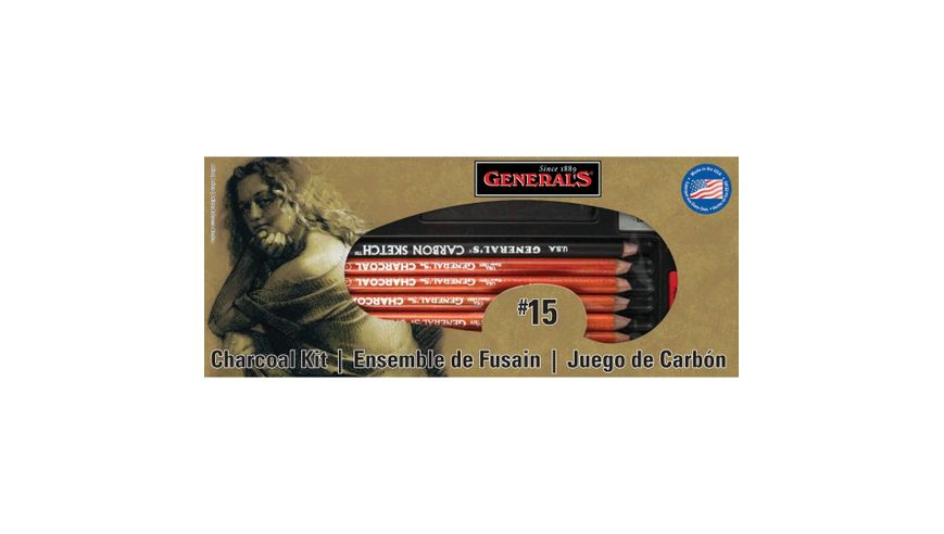 General's The Original Charcoal Drawing Kit - Art Set of 13 Pieces