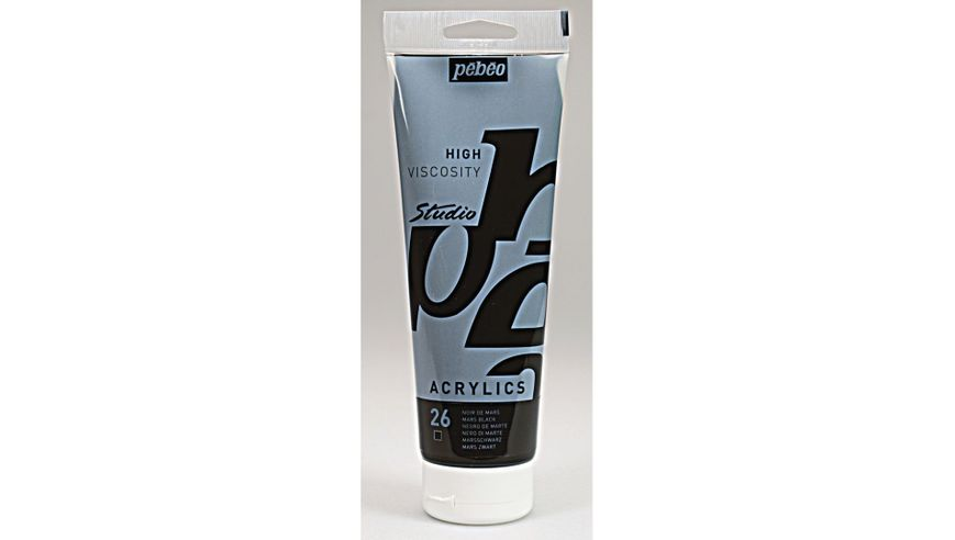 Pebeo Studio Acrylic High Viscosity 250 ml Mars Black 26
