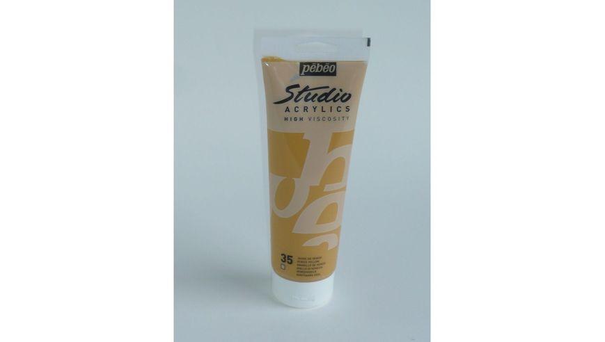 Pebeo Studio Acrylic High Viscosity 250 ml Venice Yellow 35