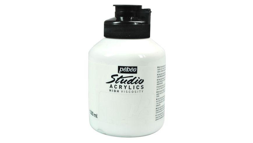 Pebeo Studio Acrylic High Viscosity 500 ml Titanium White 11