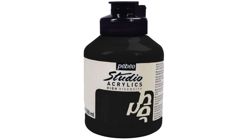 Pebeo Studio Acrylic High Viscosity 500 ml Mars Black 26