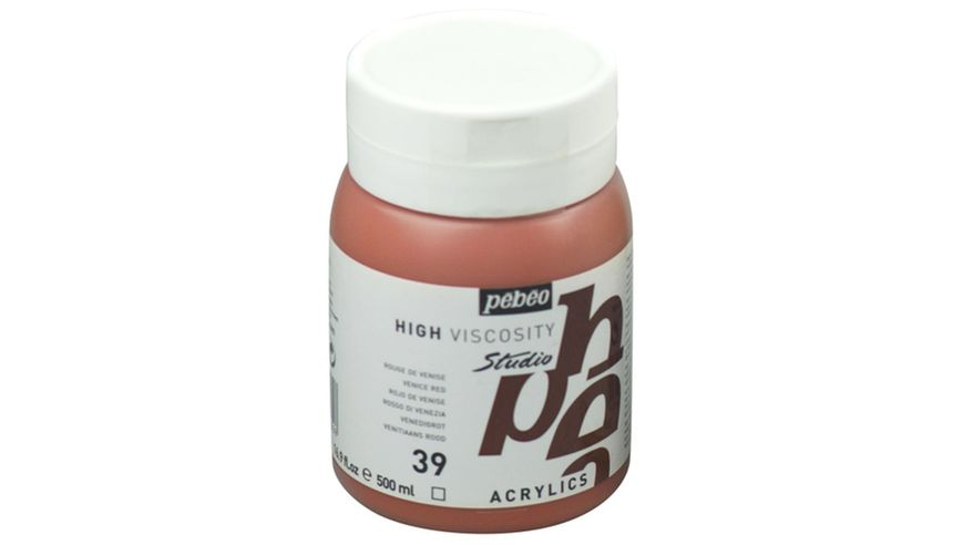 Pebeo Studio Acrylic High Viscosity 500 ml Venice Red 39