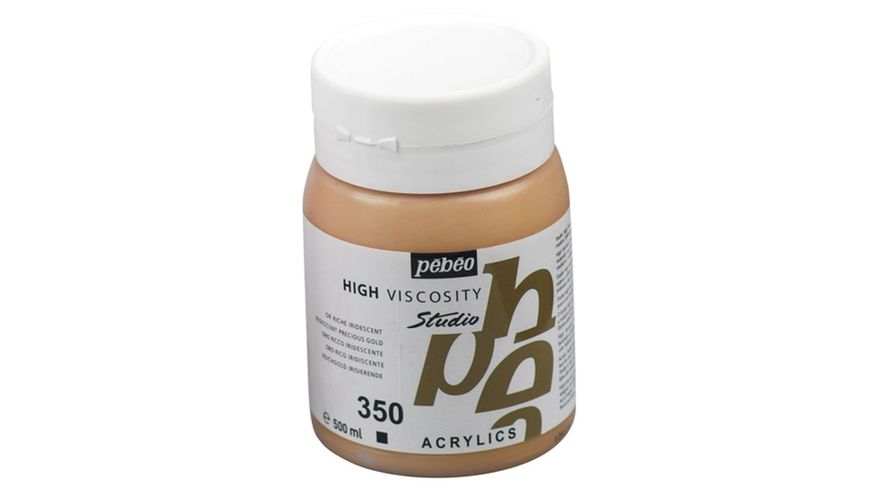 Pebeo Studio Acrylic High Viscosity 500 ml Iridescent Precious Gold 350