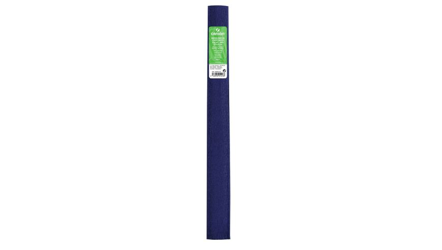 Canson Standard Crepe Paper Roll - 32 GSM, 50 x 250 cm  - Navy Blue