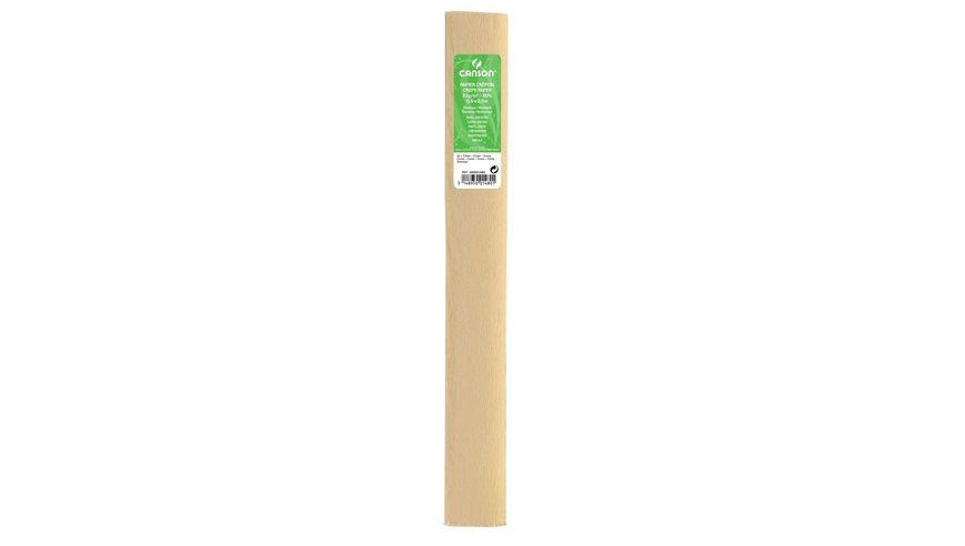 Canson Standard Crepe Paper Roll - 32 GSM, 50 x 250 cm  - Cream