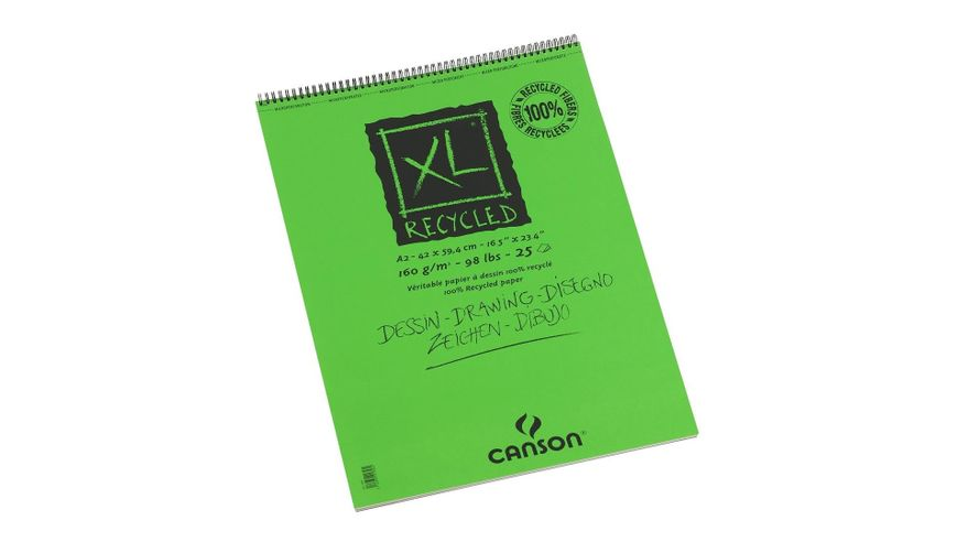 Canson XL Recycled 160 GSM A2 Album of 25 Honeycomb Texture Sheets