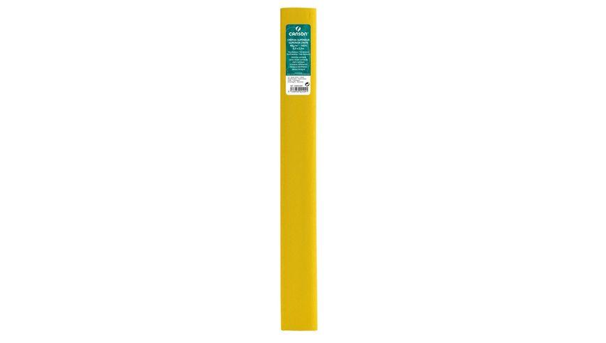 Canson Superior Crepe Paper Roll - 48 GSM, 50 x 250 cm  - Lemon