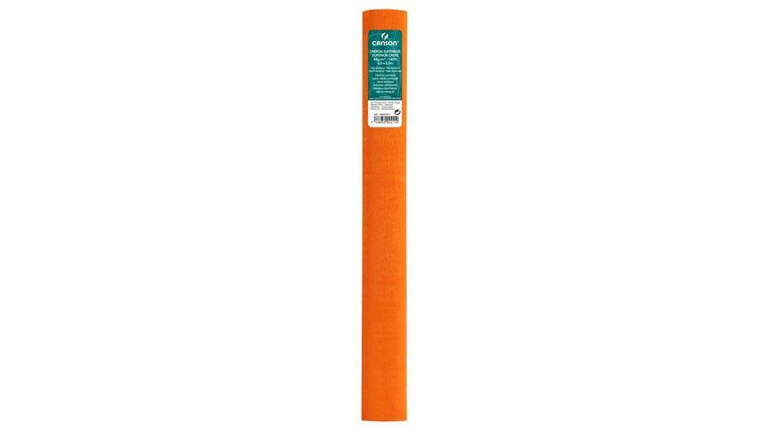 Canson Superior Crepe Paper Roll - 48 GSM, 50 x 250 cm  - Zinnia Orange