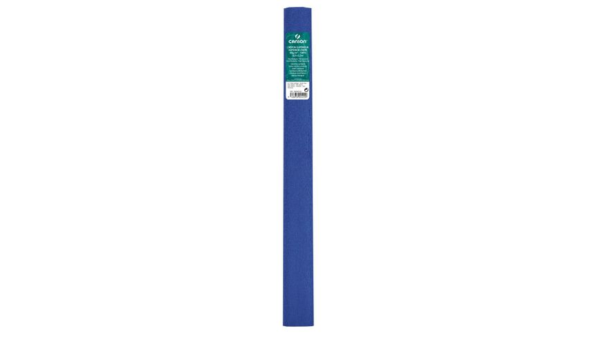 Canson Superior Crepe Paper Roll - 48 GSM, 50 x 250 cm  - Exotic Blue