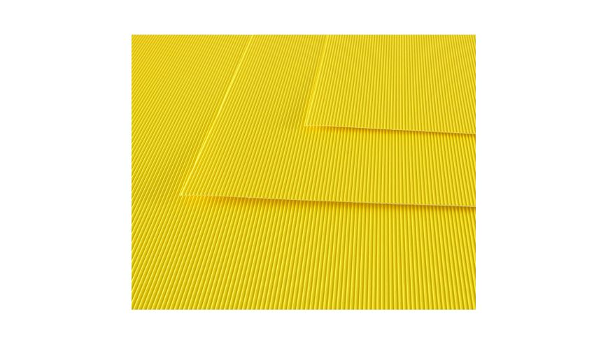 Canson Corrugated Cardboard Paper Pack of 10 - 300 GSM, 50 x 70 cm  - Lemon