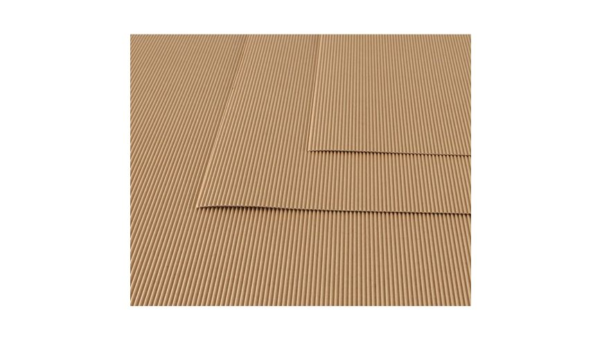 Canson Corrugated Cardboard Paper Pack of 10 - 300 GSM, 50 x 70 cm  - Brown