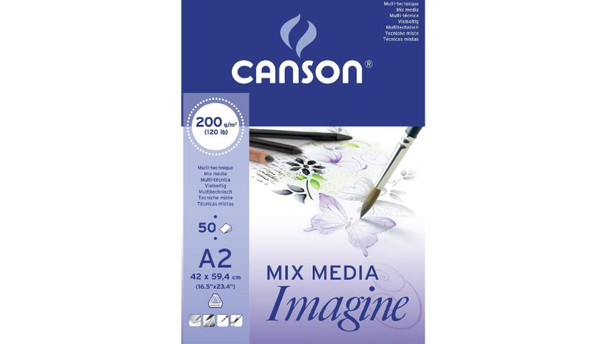 Canson Imagine 200 GSM A2 Pad of 50 Light Grain Sheets