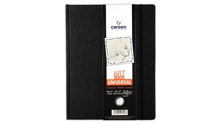 Canson Universal Art Book - 96 GSM - A4+ - 112 Fine Grain Sheets