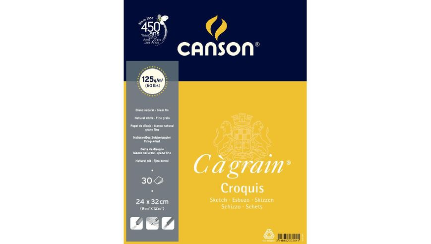 Canson C a' grain 125 GSM 24 x 32 cm Album of 30 Fine Grain Sheets