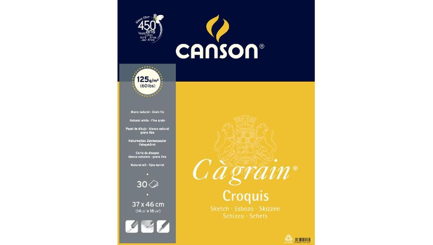 Canson C a' grain 125 GSM 37 x 46 cm Album of 30 Fine Grain Sheets