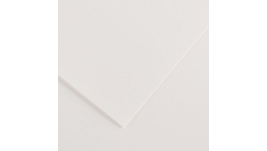 Canson Colorline 150 GSM 50 x 65 cm Pack of 25 Smooth & Light Grain Sheets - White