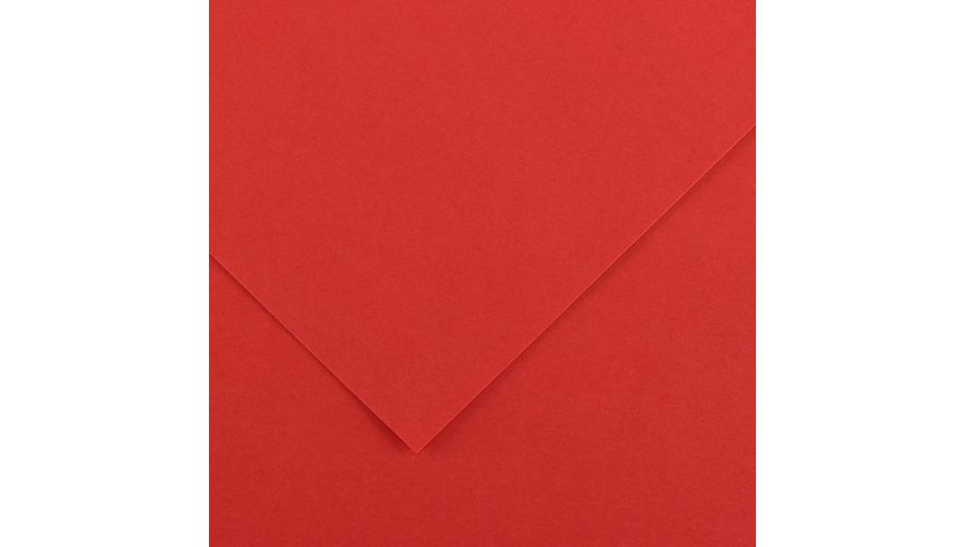 Canson Colorline 150 GSM 50 x 65 cm Pack of 25 Smooth & Light Grain Sheets - Red