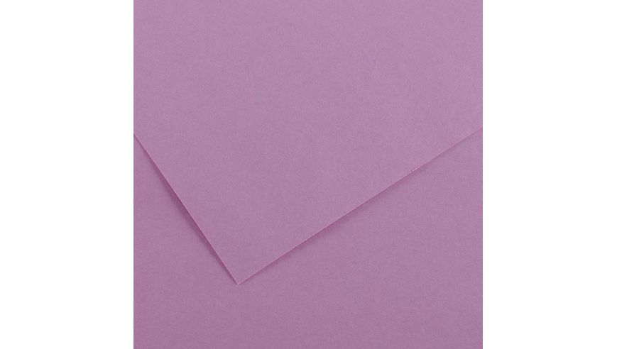 Canson Colorline 150 GSM 50 x 65 cm Pack of 25 Smooth & Light Grain Sheets - Lilac