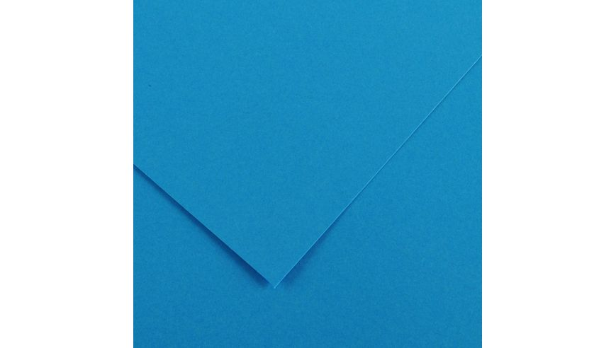 Canson Colorline 150 GSM 50 x 65 cm Pack of 25 Smooth & Light Grain Sheets - Azure Blue
