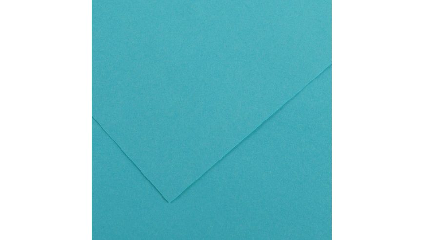 Canson Colorline 150 GSM 50 x 65 cm Pack of 25 Smooth & Light Grain Sheets - Turquoise Blue