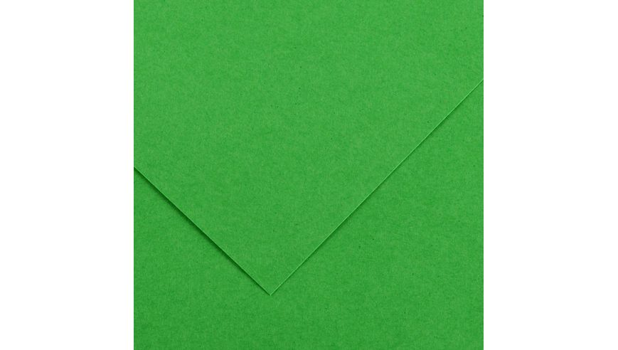 Canson Colorline 150 GSM 50 x 65 cm Pack of 25 Smooth & Light Grain Sheets - Bright Green